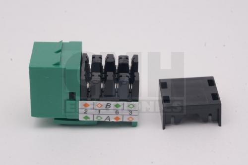 cat5e jack rj45 green premium